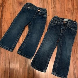 The children's place jeans. GUC. 2T and 3T